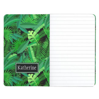 Leaves Of Tropical Palm Trees | Add Your Name Journals