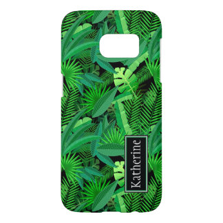 Leaves Of Tropical Palm Trees | Add Your Name Samsung Galaxy S7 Case