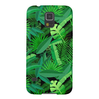 Leaves Of Tropical Palm Trees Galaxy S5 Cases