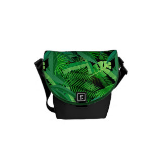 Leaves Of Tropical Palm Trees Messenger Bags