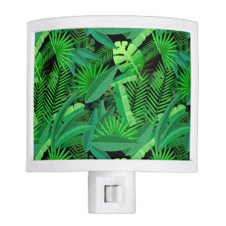 Leaves Of Tropical Palm Trees Night Light
