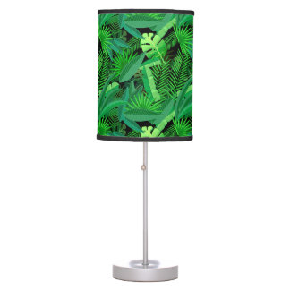 Leaves Of Tropical Palm Trees Table Lamp