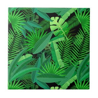 Leaves Of Tropical Palm Trees Tiles