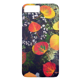 Leaves on a lichen covered rock, Rocky Mountains iPhone 7 Plus Case