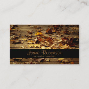 Private teacher business cards business card printing zazzle ca leaves on bridge private teacher business card reheart Image collections