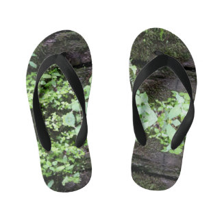 Leaves on the Run Kid's Flip Flops