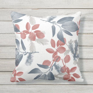 "LEAVES Outdoor Throw Pillow 16"" x 16"""
