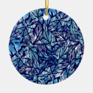 leaves pattern  B Ceramic Ornament