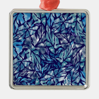 leaves pattern  B Metal Ornament