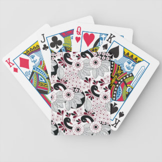 leaves pattern C Bicycle Playing Cards