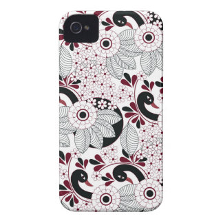 leaves pattern C iPhone 4 Cases