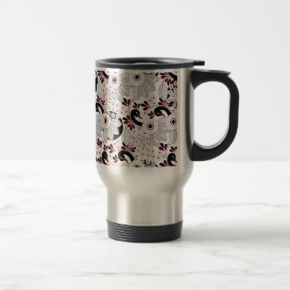leaves pattern C Travel Mug