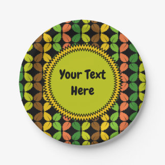 Leaves Pattern Paper Plates