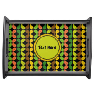 Leaves Pattern Serving Tray