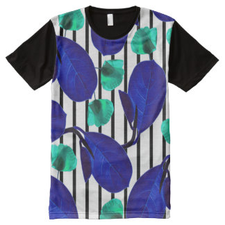 Leaves + Poppies All-Over-Print T-Shirt