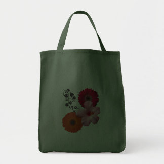 leaves red gerber daisy1 orange daisy pink f canvas bag