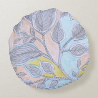 Leaves  - round Pillow (10)