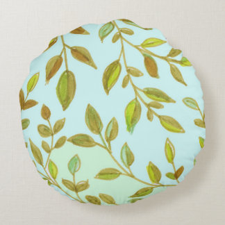 Leaves - round Pillow (2)
