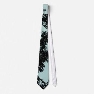 Leaves Turquoise Tie