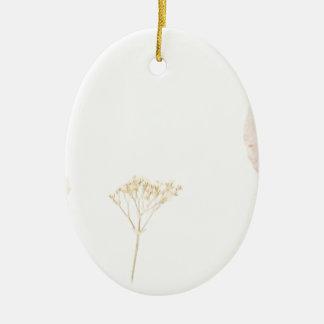 Leaves Under Tissue.jpg Ceramic Oval Ornament