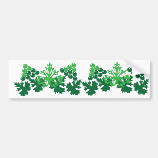 leaves with grapes bumper sticker