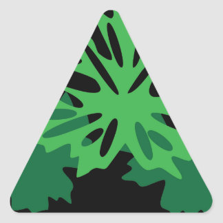 leaves with grapes triangle sticker