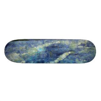Leaving a wake behind skate boards