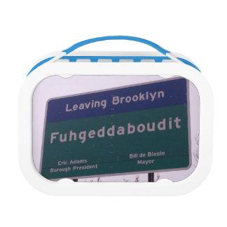 Leaving Brooklyn New York Fuhgeddaboudit Lunch Box