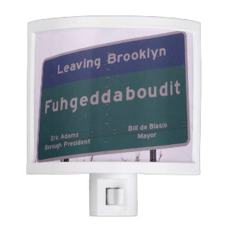 Leaving Brooklyn New York Fuhgeddaboudit Nite Lights