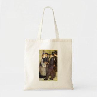 Leaving The Conservatoire by Pierre Renoir Budget Tote Bag