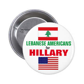 Lebanese Americans for Hillary 2016 2 Inch Round Button