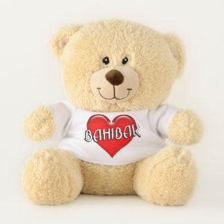 Lebanese Bahibar I Love You Red Heart Teddy Bear