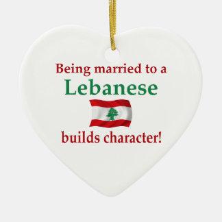 Lebanese Builds Character Ceramic Ornament