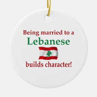Lebanese Builds Character Round Ceramic Ornament