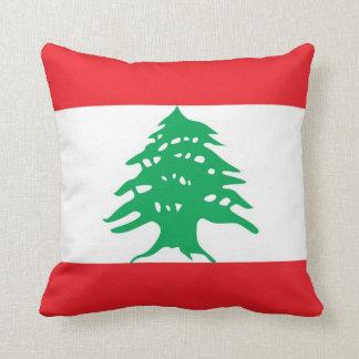 Lebanese Flag American MoJo Pillow