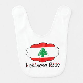 Lebanese Flag Baby Bib