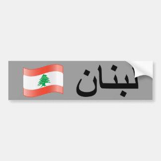 Lebanese Flag Bumpersticker Bumper Sticker