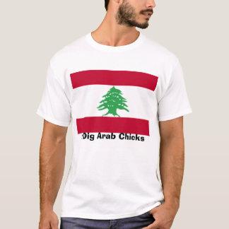 Lebanese-Flag, I Dig Arab Chicks T-Shirt