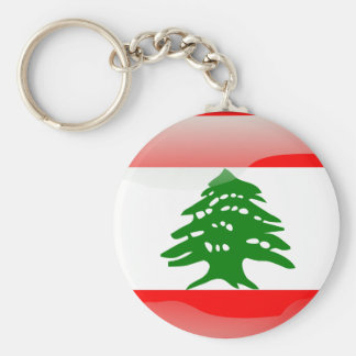 Lebanese flag key chain