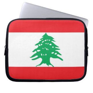 Lebanese Flag Laptop Sleeve