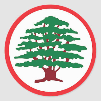 lebanese forces classic round sticker