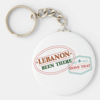 Lebanon Been There Done That Basic Round Button Keychain