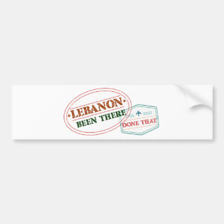 Lebanon Been There Done That Bumper Sticker