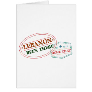 Lebanon Been There Done That Card