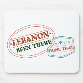 Lebanon Been There Done That Mouse Pad