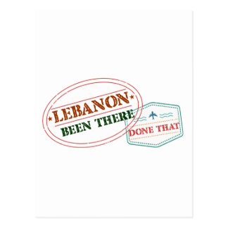 Lebanon Been There Done That Postcard