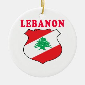 Lebanon Coat Of Arms Designs Ceramic Ornament