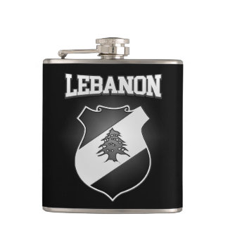 Lebanon Coat of Arms Hip Flask