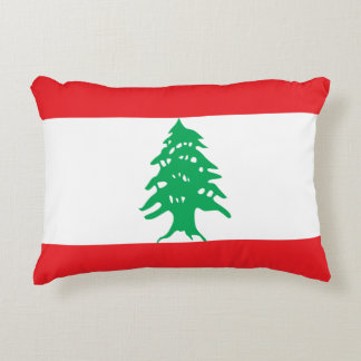Lebanon Flag Accent Pillow