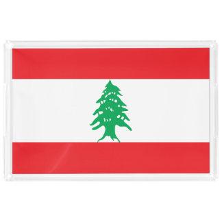 Lebanon Flag Acrylic Tray